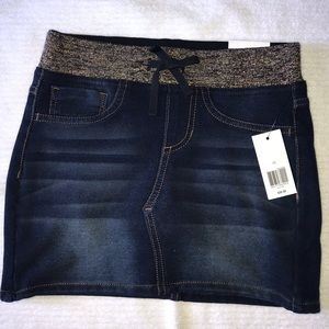 Girls jean skirt with shorts underneath